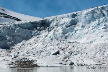 Ice climbing on Tunsbergdalbreen glacier